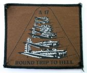 A-17 - 'Round Trip to Hell' Woven Patch